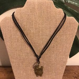 Antique Bronze Owl Necklace